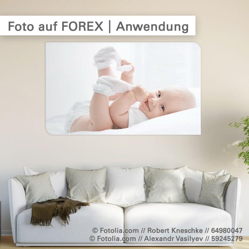 FOREX-Druck - Ihr individuelles Schild für innen - SalierDruck.de