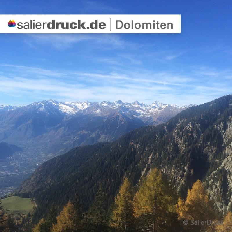 Ein weiterer unvergesslicher Ausblick auf die Dolomiten.