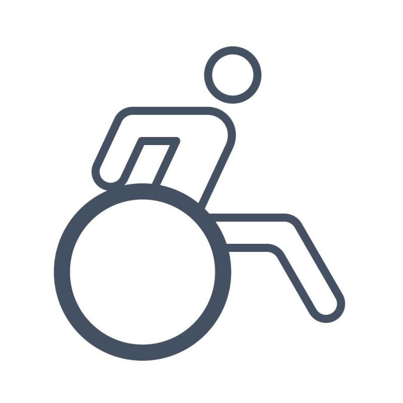 Gehhilfen wie Rollatoren, Gehstöcke oder Rollstühle sind mit reflektierenden Aufklebern beklebt in schlechten Lichtverhältnissen besser erkennbar.