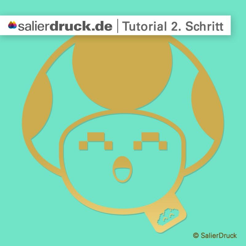 CMYK-Gold-Anleitung 2. Schritt | SalierDruck