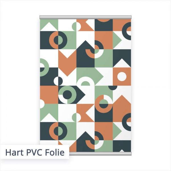 Das Hart-PVC-Poster ist besonders für abhängende Drucke, z.B. über dem POS oder an der Wand geeignet.