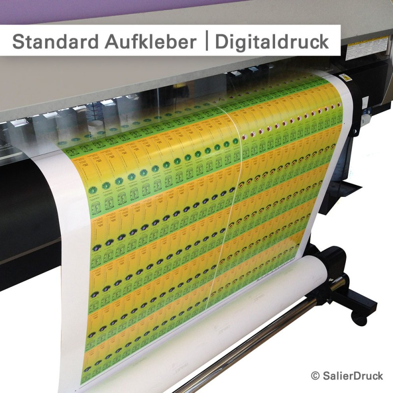 Standardaufkleber im Digitaldruck | SalierDruck.de