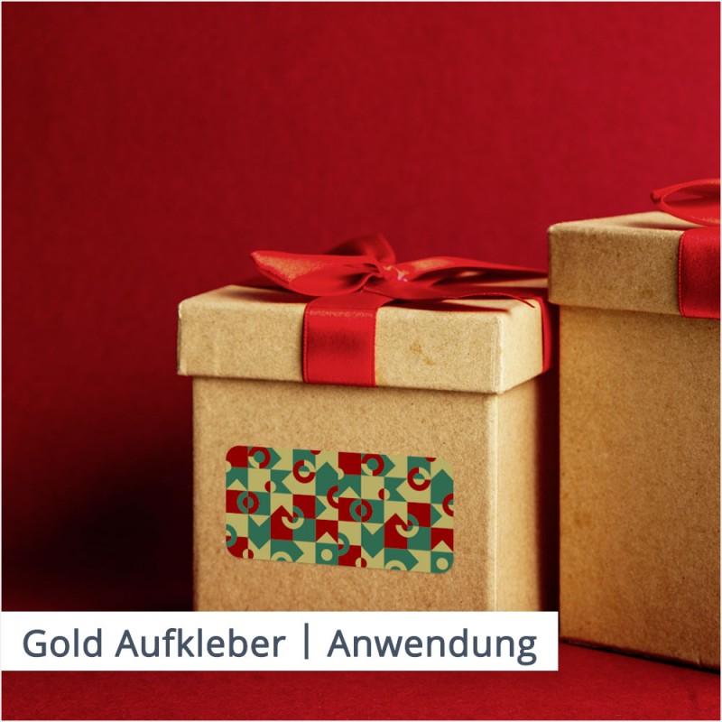 Schöne Aufkleber in Gold und Silber verzieren Ihr Geschenk und können als persönliche Widmung für den Empfänger fungieren.