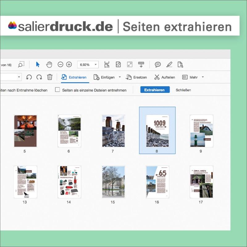 Im Adobe Acrobat Pro einzelne Seiten einer PDF extrahieren – SalierDruck