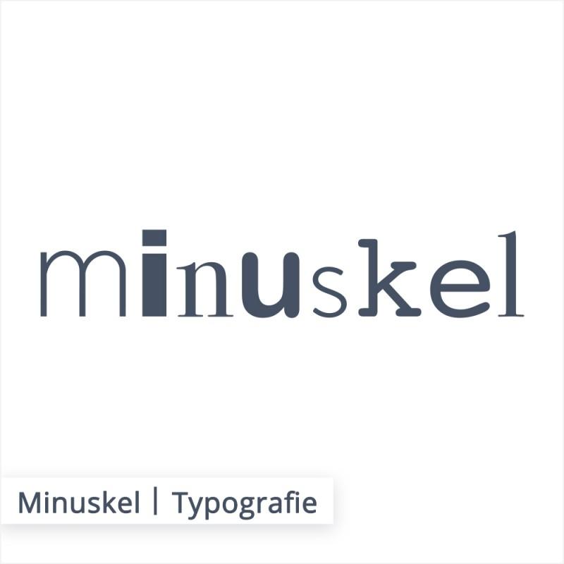 Unter den Begriff Minuskel versteht mann alle klein geschriebenen Buchstaben.