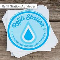 Refill Station Aufkleber