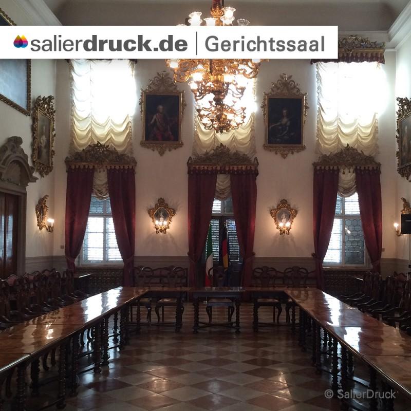 Der Gerichtssaal in Bozen.
