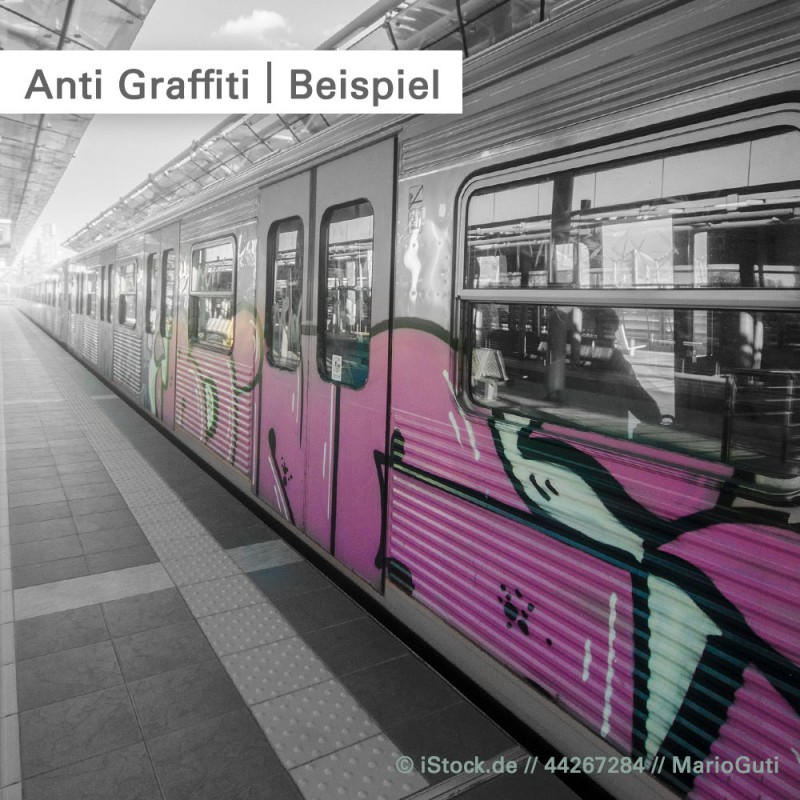 Anti Graffiti Klebefolie – Beispiel – SalierDruck.de