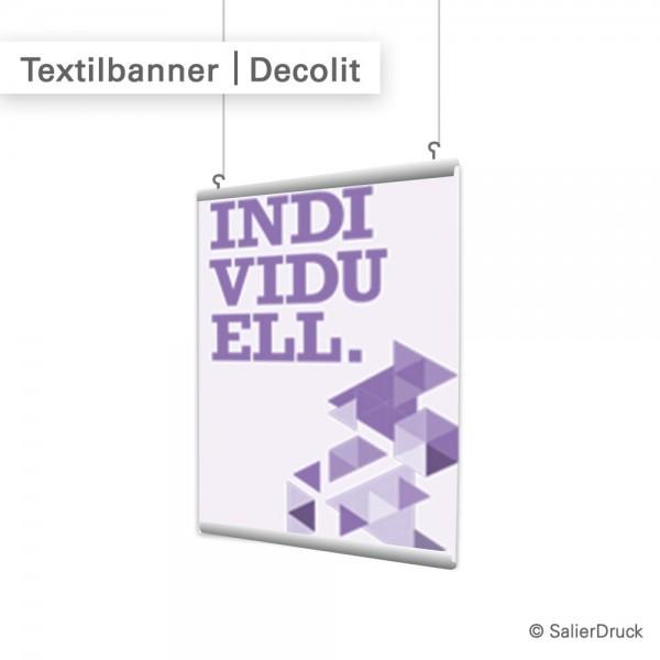 Textilbanner individuell bedruckt für Ihre L-Banner-Displays online bestellen bei SalierDruck.de