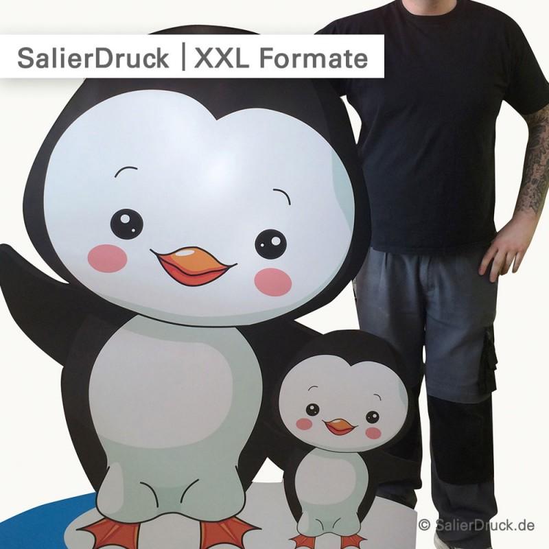 Digitaldruck Aufkleber für Großformat Werbeschilder.