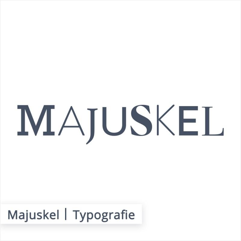 Die Großbuchstaben werden in der Fachsprache auch Majuskel genannt.