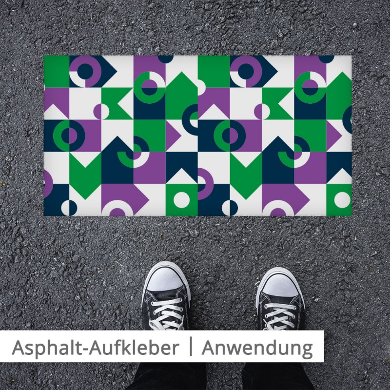 Asphaltaufkleber für maximale Aufmerksamkeit auf dem Boden |SalierDruck.de
