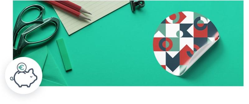 Unsere günstigen Sticker werden von Ihnen komplett individuell gestaltet und sind vielseitig einsetzbar.