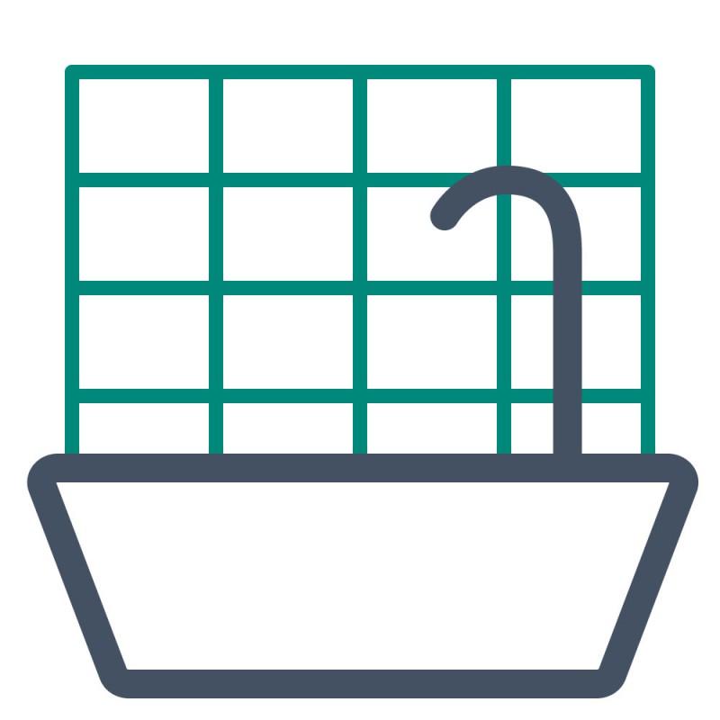 Plattenzuschnitte sind wasserdicht und können anstelle von Fliesen in Bädern oder Küchen verbaut werden.
