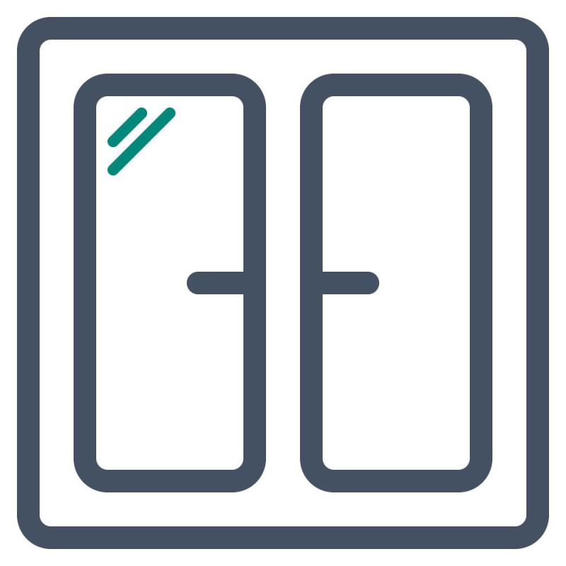 Auf Glasscheiben können die günstigen Standard Aufkleber auf kleinen Flächen verwendet werden.