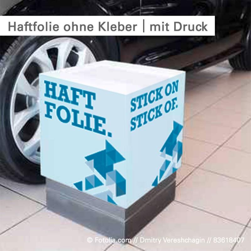 Haftfolie mit seidenmatter Oberfläche individuell bedruckt - SalierDruck.de