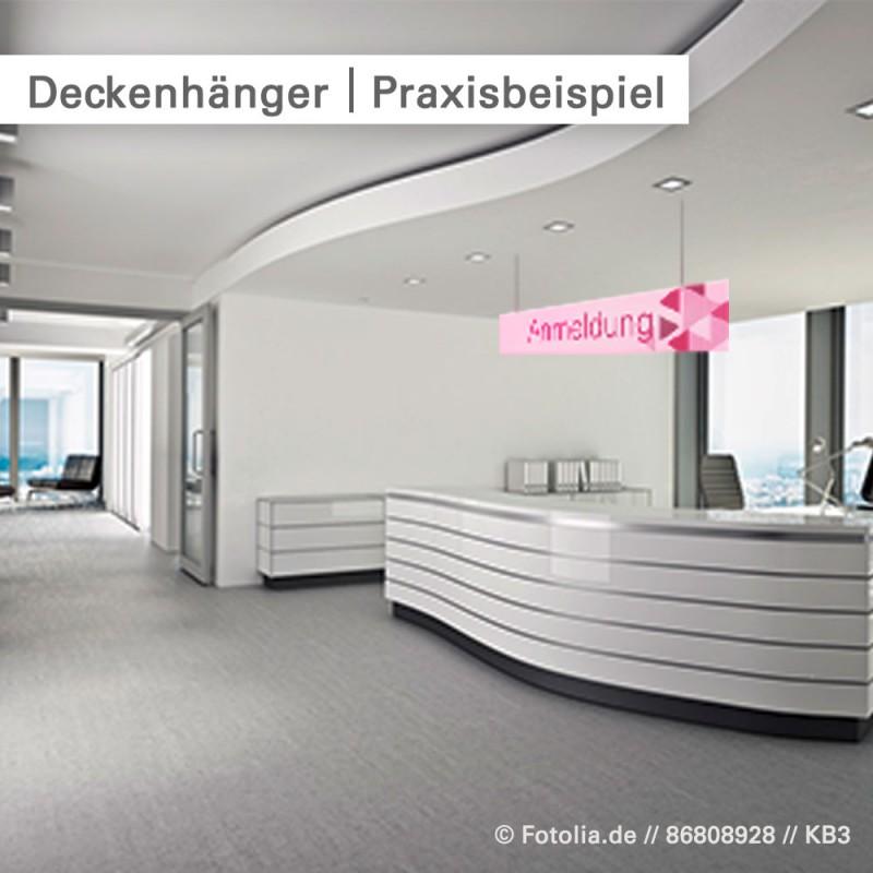 Deckenhänger drucken - individuell bei SalierDruck.de.