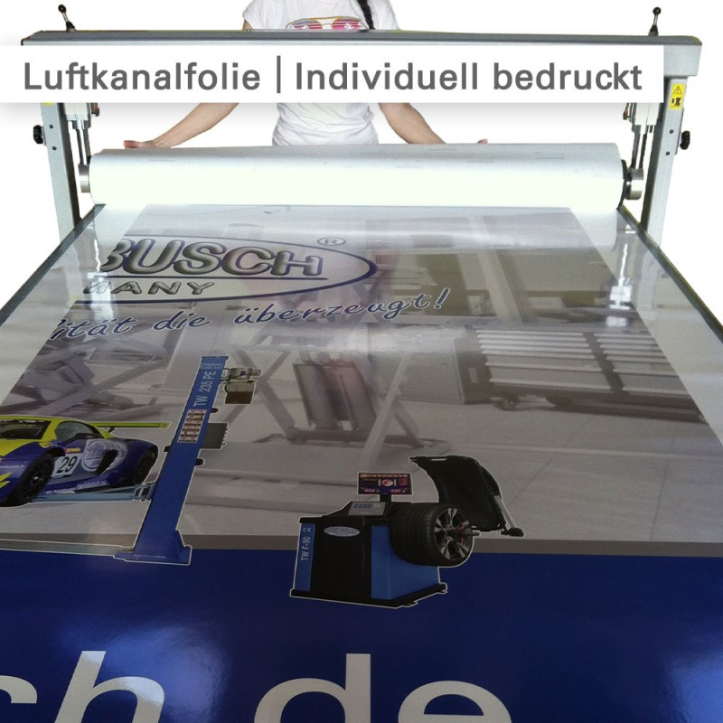 Luftkanalfolie – Individuell bedruckt – SalierDruck.de