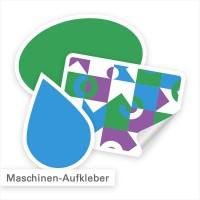 Maschinenaufkleber individuell in Form und Abmessung | SalierDruck.de