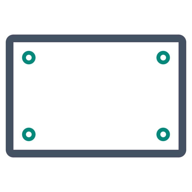 Werbeschilder oder Hinweisschilder aus DIBOND Platten können im Innen- und Außenbereich aufgestellt werden.