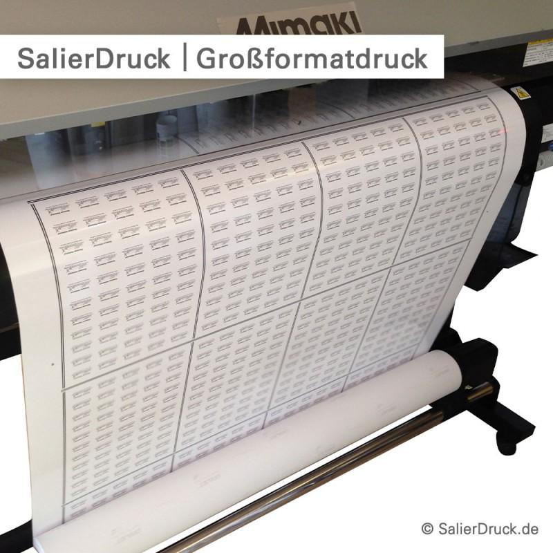 Produktaufkleber mit individuellem Motiv bedruckt - online kalkulieren und bestellen bei SalierDruck.de