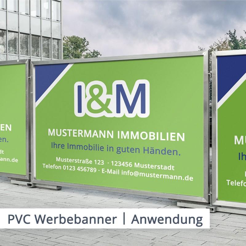 Das klassische Beispiel des PVC Werbebanners ist der Werbeträger am Bauzaun. Natürlich haben Sie auch weitere Optionen der Gestaltung und der Anbringung – Ihrer Kreativität setzen wir dabei keine Grenzen.