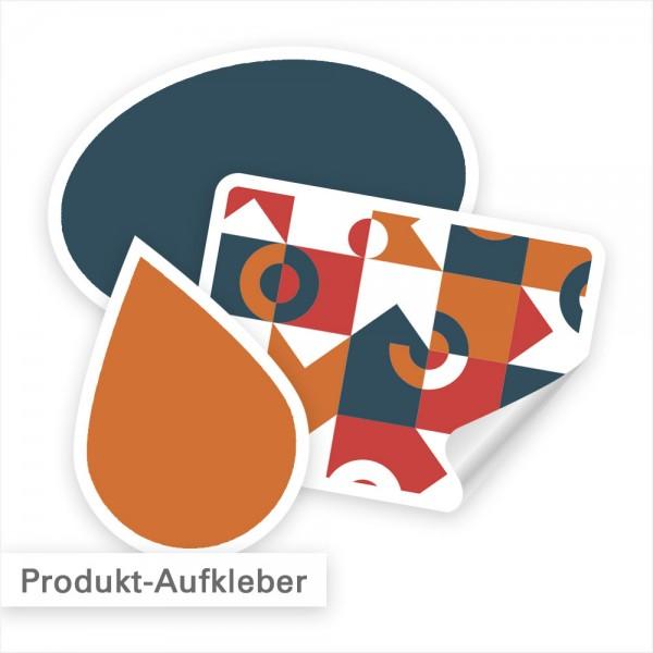 Produktaufkleber mit Konturschnitt Freiform - individuell bestellen bei SalierDruck.de