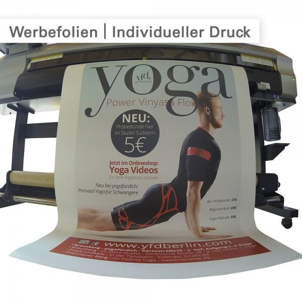 Werbefolien drucken - individuell und günstig bei SalierDruck.de