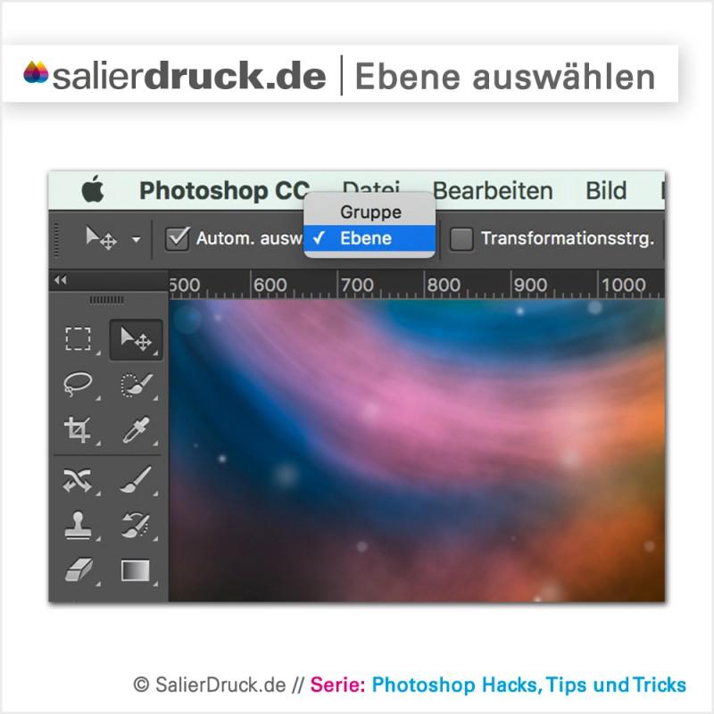 Das Photoshop Auswahl Werkzeug dient auch der automatischen Auswahl von Ebenen und Gruppen – SalierBlog