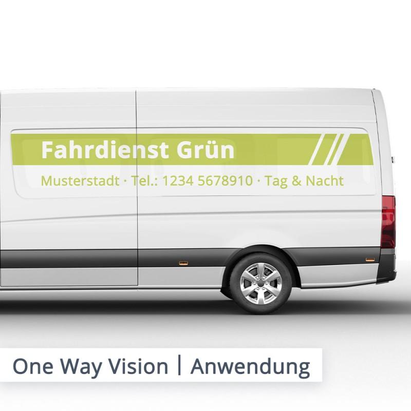 One Way Vision – Verklebung – SalierDruck.de