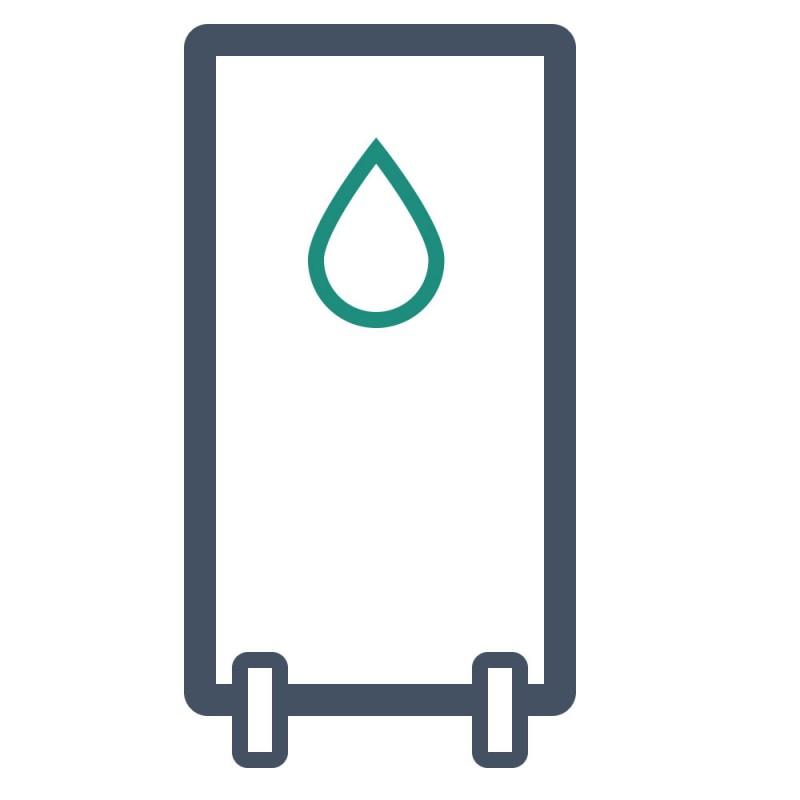 Das stabile DILITE kann gut als Material für Werbeaufsteller verwendet werden.