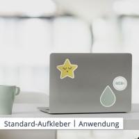 Ob große oder kleine Projekte: die individuellen Standardaufkleber sind besonders preiswert und einfach bestellt.