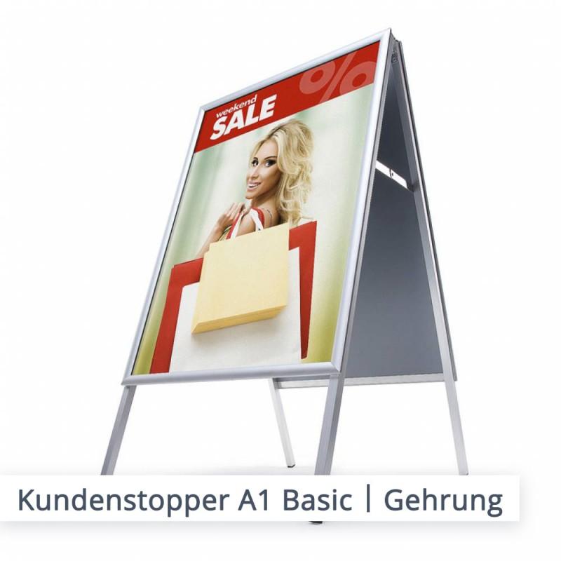 "Kundenstopper Basic | Ausführung ""Gehrung"""