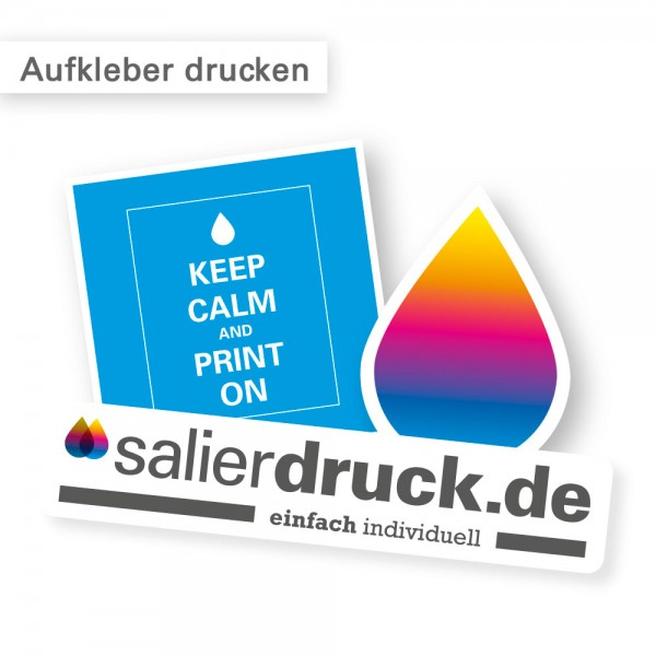 Sticker drucken - individuell und günstig bei SalierDruck.de