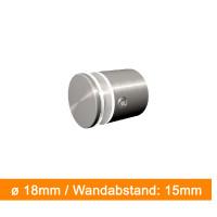 Abstandshalter 18mm Durchmesser mit 15 mm Wandabstand | einfach bei SalierDruck.de bestellen.