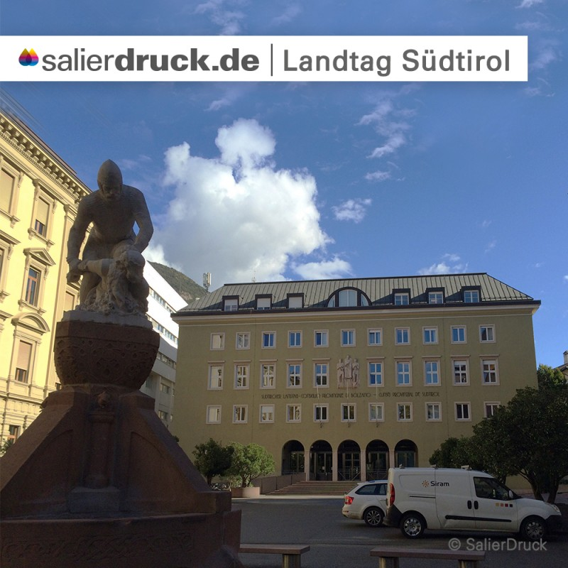 Der Landtag in Südtirol.