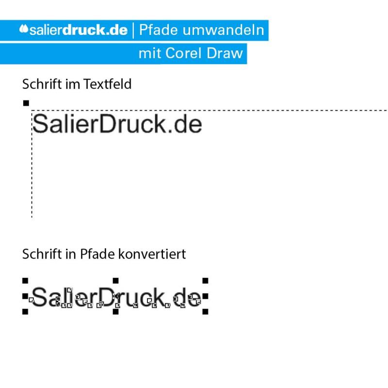 How to: Schriften mit Corel Draw umwandeln | SalierDruck.de