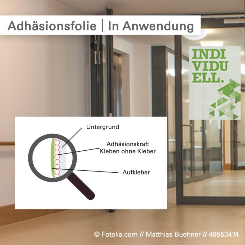 Statische Fensterfolie bedrucken wir mit Ihrem individuellen Motiv - SalierDruck.de