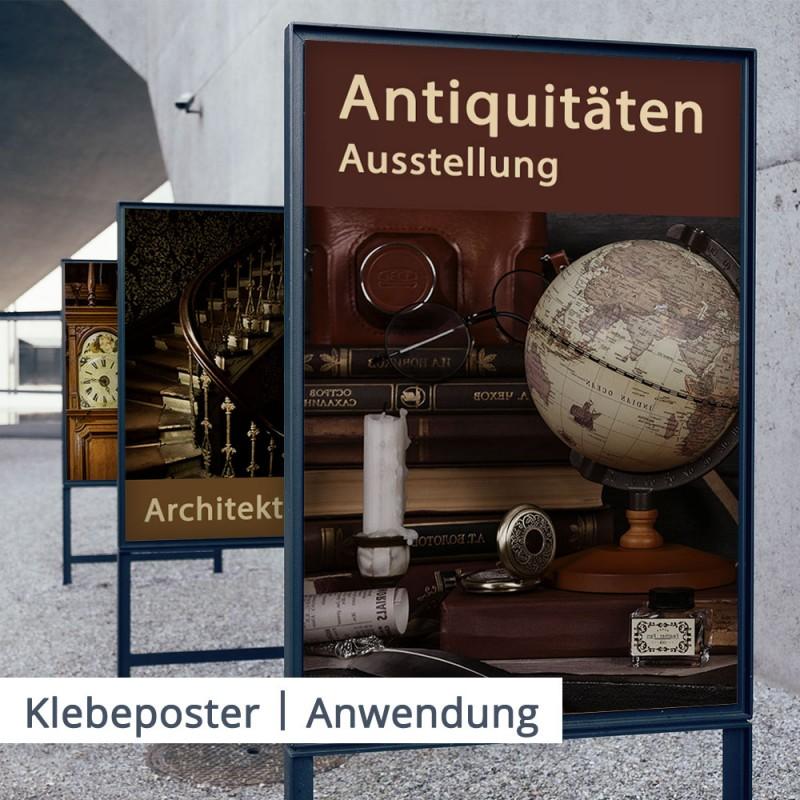 Klebeposter – permanent oder ablösbar haftend   SalierDruck.de