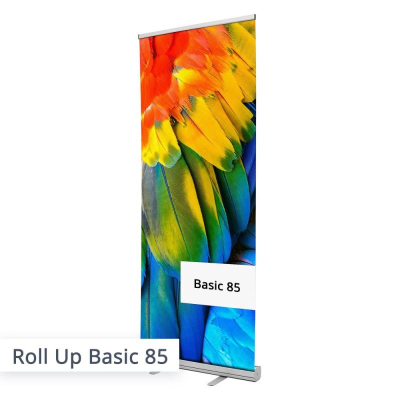 Das Roll Up Banner 85 mit individuellem Aufdruck...