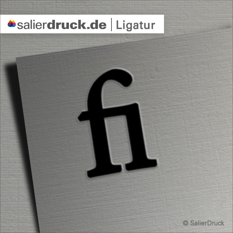 Beispiel einer Ligatur am Buchstaben f und i.