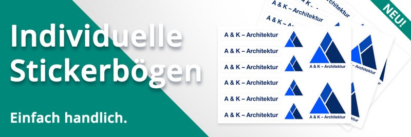 Jetzt neu: Bestellen Sie Ihren individuellen, handlichen Stickerbogen in unserem Webshop