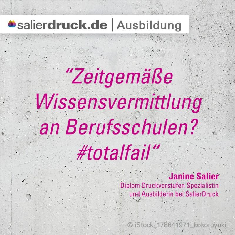 'Zeitgemäße Wissensvermittlung an Berufsschulen? #totalfail'