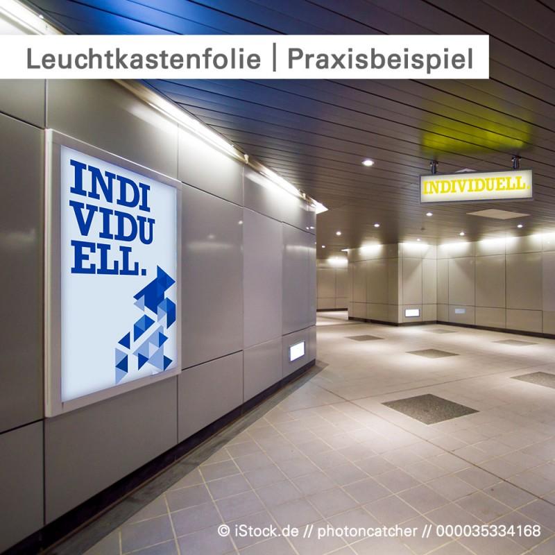 Leuchtkastenfolie für Leuchtwerbung online kalkulieren und bestellen bei SalierDruck.de