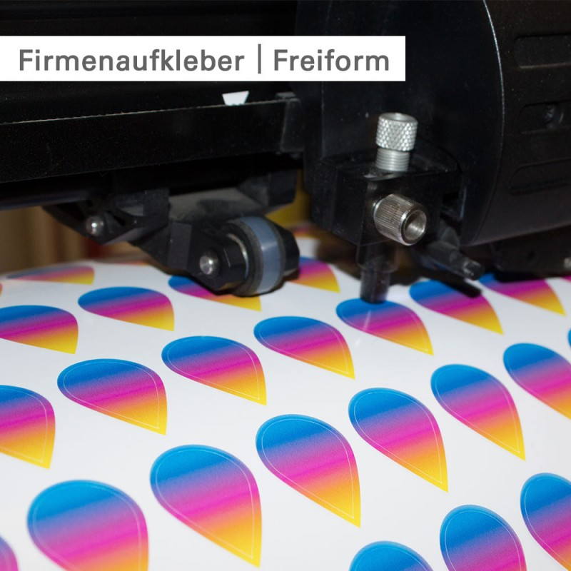 Firmenaufkleber - individuell mit Konturschnitt bei SalierDruck.de