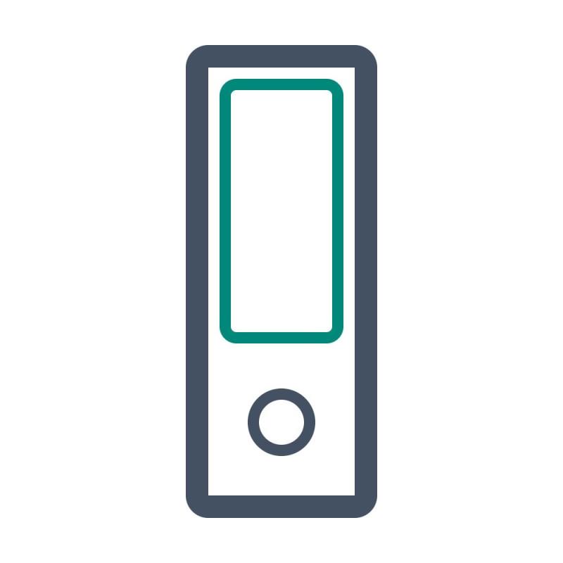 Markieren Sie Ihre Unterlagen in Ordnern oder Kisten mithilfe von Etiketten.