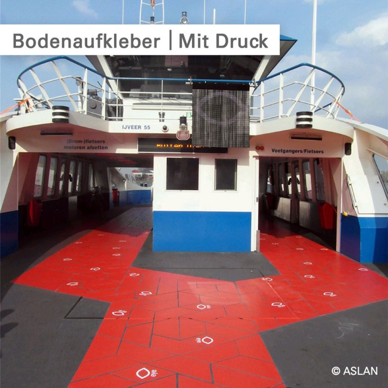 Bodenaufkleber mit rutschfestem Laminat - SalierDruck.de