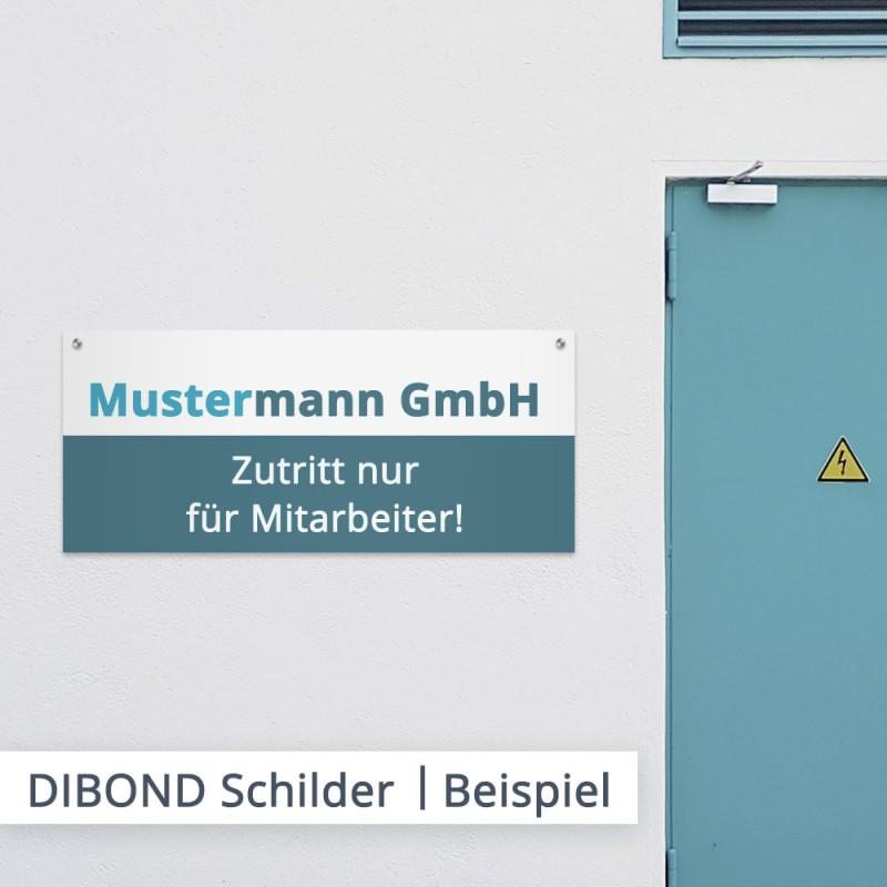 DIBOND Werbeschilder in Freiform – individuell bestellen bei SalierDruck.de