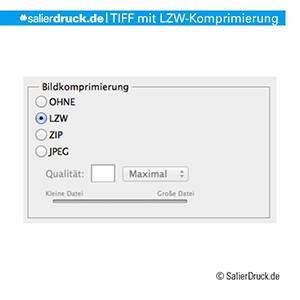 Das wichtige bei dem Speichern einer TIFF-Datei ist die LZW-Komprimierung.