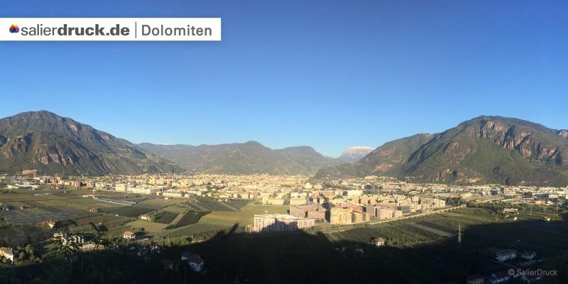 Das wundervolle Panorama der Dolomiten.